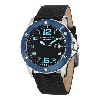 Stuhrling Original Men's 463.33UBO1 Pilot Ace Date Black Stuhrling Watches