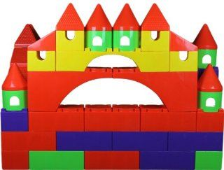 Huge Building Castle Blocks 73 Pcs (Biggest Toy Blocks in the World View All Photos) Toys & Games