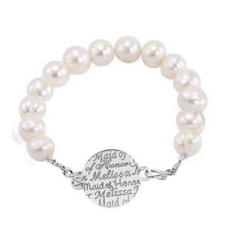 Alison & Ivy 10.0mm Cultured Freshwater Pearl Maid of Honor Name