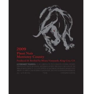 2009 Miura, Pinot Noir, Monterey County 750 mL: Wine