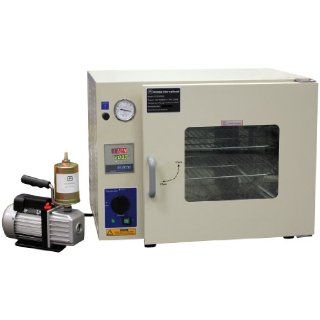 "Ambient to 480�F 16x14x14"" 1.9 Cu Ft Desktop Digital Vacuum Degassing Chamber Drying Sterilizing Oven 110V 50/60Hz 1500 watts with 2.5 CFM Vacuum Pump & Exhaust Filter: Electrical Boxes: Industrial & Scientific"