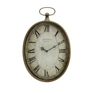 "21"" Distressed Oversized Pocket Watch Style Roman Numeral Wall Clock"