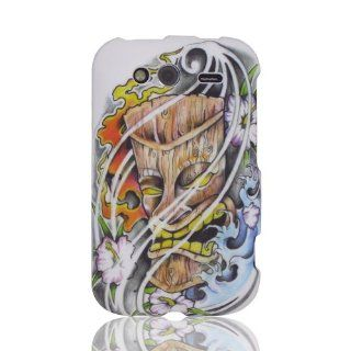 Design Hawaii Ocean Flowers Surf Tiki Mask Tattoo Art cool hard case cover for HTC Wildfire S 2 G13 A510e: Cell Phones & Accessories
