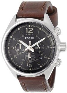 Fossil Flight Chronograph Leather Watch   Brown Ch2892 Watches