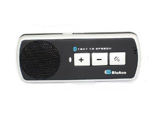 BluAce BA 508 TTS Bluetooth v2.0 + EDR Handsfree Speakerphone w/Text to Speech Caller ID Electronics