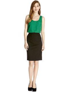 Oasis Kelly spot pencil skirt Black