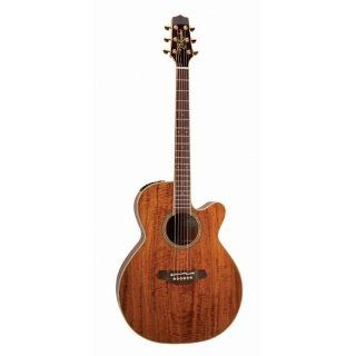 Takamine Pro Series EF508KC NEX All Koa Acoustic Electric Guitar, Natural with Case Musical Instruments