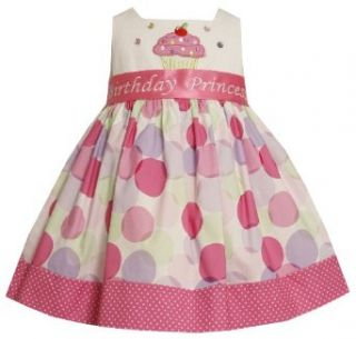 Bonnie Jean Girls 2 6X Cupcake Applique Cupcake Dress, Multi, 2T Special Occasion Dresses Clothing