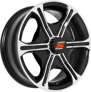 14x5.5 Sendel T05 Trailer Black & Machined Wheel Rim 5x114.3 5x4.5 0mm Offset 81.03mm Hub Bore Automotive