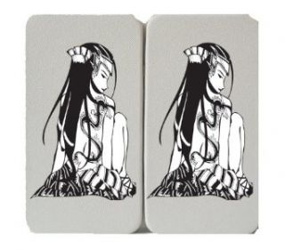 Anime Style Cartoon Girl w/ Dragon Tattoo   Taiga Hinge Wallet Clutch: Clothing