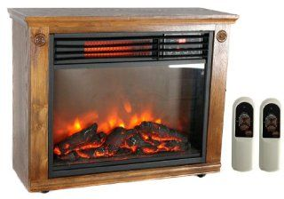 New LifeSmart LS 1111HH13 1800 Sq.Ft Infrared Quartz Electric Portable Fireplace Home & Kitchen