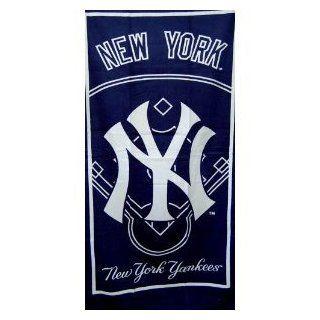 New York Yankees White Border Baseball   Fiber Reactive Pool/Beach/Bath Towel