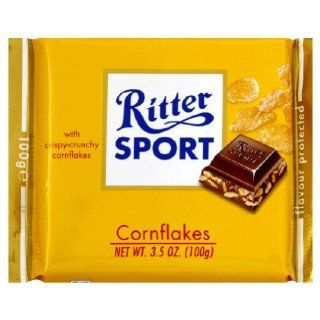 Ritter Sport, Milk Chocolate W/Corn Flakes, 3.5 Ounce (10 Pack) : Candy And Chocolate Bars : Grocery & Gourmet Food