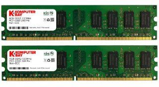 Komputerbay 8GB 2X 4GB DDR2 533MHz PC2 4200 PC2 4300 DDR2 533 (240 PIN) DIMM Desktop Memory: Computers & Accessories
