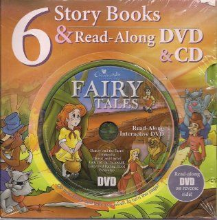 6 Fairy Tales Hard Cover Story Books & Read Along DVD & CD  Read Along Books With Cd