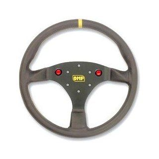 OMP Racing OMP OD/1973 RACING STEERING WHEELS SUPERTURISMO Flat steering wheel  2 red controlling buttons  Black suede Automotive