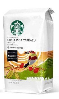 Starbucks Costa Rica Tarraz� Ground Coffee   Crisp & Balanced : Costa Rica Tarrazu : Grocery & Gourmet Food