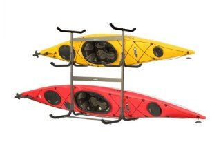 Stoneman Sports G 535 C4 Glacik Freestanding Portable 5 Kayak or Canoe Storage Rack with Heavy Duty Caster Wheels, Double Sided, Bronze Colored Finish : Automotive Kayak Racks : Sports & Outdoors