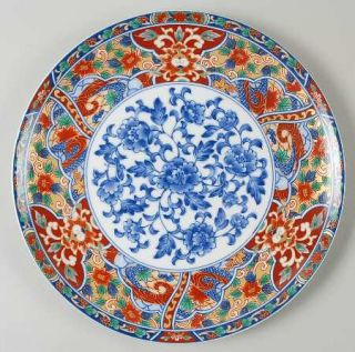 China(Made In China) Imari Edo Dinner Plate, Fine China Dinnerware   Cobalt&Rust