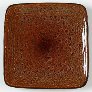 Home Trends Atlas Salad Plate, Fine China Dinnerware   All Reactive Brown,Coupe,
