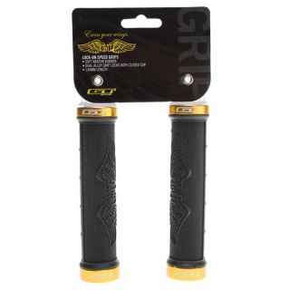 GT Lock On Speed BMX Grip Black/Gold 140mm