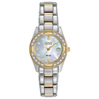 Ladies Citizen Eco Drive™ Regent Diamond Accent Watch with Mother