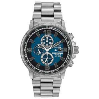 Mens Citizen Eco Drive™ Nighthawk Chronograph Titanium Watch with