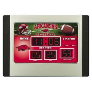 Team Sports America Arkansas Scoreboard Desk Clock