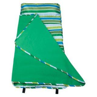 Wildkin Cool Stripes Easy Clean Nap Mat   Green