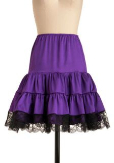 Let's Turn Up the Volume Petticoat in Purple  Mod Retro Vintage Underwear