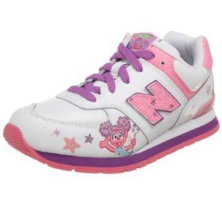 New Balance Little Kid/Big Kid KJ574ACG Abby Cadabby Sneaker, White, 6.5 M US Big Kid Fashion Sneakers Shoes