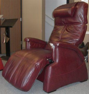 The Human Touch Power Electric Transitional Perfect Chair Recliner   PC85 / PC 085 Motor Recline Burgundy Red Premium Leather Pads   Zero Anti Gravity Recline Chair   Adjustable Home Desk Chairs