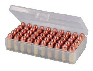 Berry's 50 Round Ammo Box (2) Pack   Clear Plastic Fits .45 / 10mm : Gun Ammunition And Magazine Pouches : Sports & Outdoors