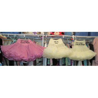 Malco Modes Knee Length Chiffon Petticoat with Fluff (Style 582): Malco Modes: Clothing