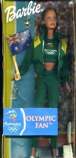 Sydney 2000 Olympic Games Fan Barbie Doll with British Flag Toys & Games