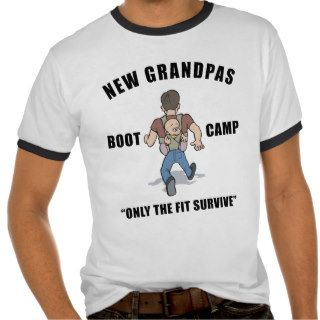 Funny New Grandpa Boot Camp T Shirt Tees