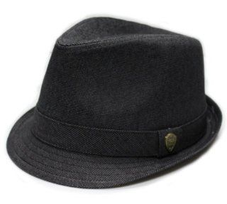 City Hunter Pmt590 Blended Poly with Self Band Fedora   Black (S/m Size): Everything Else