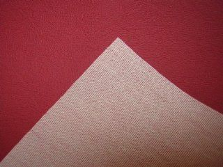 RED VINYL FAUX LEATHER FROM THE FABRIC BARN, LEATHERETTE UPHOLSTERY FABRIC   ATLANTA Sold by the metre