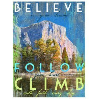Shop Santa Barbara Design Studio Believe Climb with Faith Mini Wall/Desk Plaque by Patrick Reid O'Brien, 4 by 6 Inch at the  Home D�cor Store. Find the latest styles with the lowest prices from Santa Barbara Design Studio