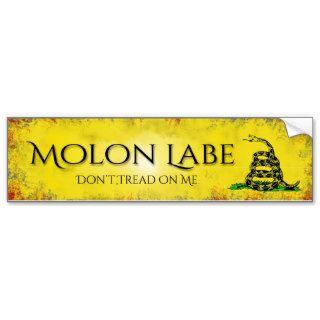 Molon Labe Don't Tread On Me Bumper Sticker