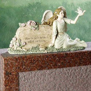 Gravestone Sitter Guardian Angel Statue : Outdoor Statues : Patio, Lawn & Garden