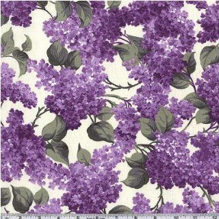 45'' Wide Michael Miller Flower Fairies Lovely Lilac White Fabric By The Yard