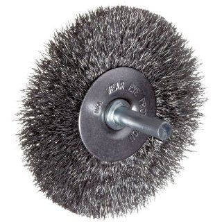 "Weiler Vortec Pro Wire Wheel Brush, Round Shank, Carbon Steel, Crimped Wire, 3"" Diameter, 0.014"" Wire Diameter, 1/4"" Shank, 13/16"" Bristle Length, 20000 rpm: Abrasive Wheel Brushes: Industrial & Scientific"
