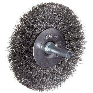 """Weiler Vortec Pro Wire Wheel Brush, Round Shank, Carbon Steel, Crimped Wire, 3"""" Diameter, 0.014"""" Wire Diameter, 1/4"""" Shank, 13/16"""" Bristle Length, 20000 rpm: Abrasive Wheel Brushes: Industrial & Scientific"""