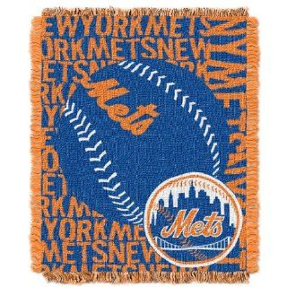 MLB New York Mets 48 x 60 Inch Double Play Jacquard Triple Woven Throw  Sports Fan Throw Blankets  Sports & Outdoors