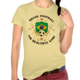 Brazil Brazilian Football Soccer Futbol T shirts