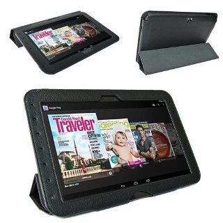 Supcase Ultra Slim Fit Folio Leather Case Cover for Google Nexus 10 Tablet (Black)   Multiple Color Options Computers & Accessories