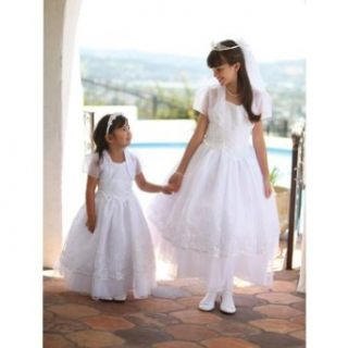 Angels Garment White Organza Halter Bolero Girls Communion Dress 7 18 Special Occasion Dresses Clothing