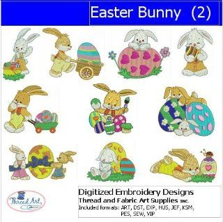 Digitized Embroidery Designs   Easter Bunny(2)