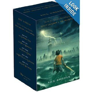 Percy Jackson and the Olympians Hardcover Boxed Set (Percy Jackson & the Olympians): Rick Riordan: 9781423141891: Books